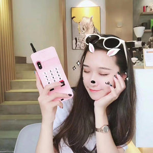 Cute Mobile Phone Soft Case Silicone For iPhone