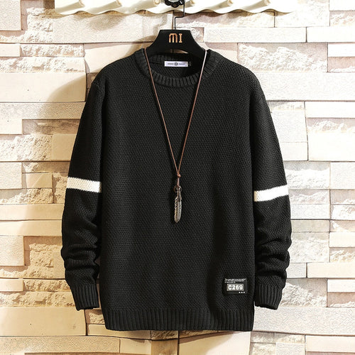 Knitted O-Neck Long Sleeve Sweater