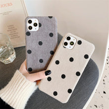 Load image into Gallery viewer, Vintage Dot Printed Case For iPhone