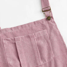 Load image into Gallery viewer, Pink Corduroy Pleated Zip Up Back Dress