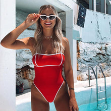 Load image into Gallery viewer, One Piece Red Bathing Suit