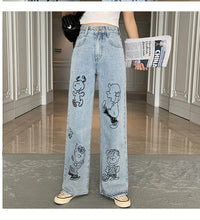 Load image into Gallery viewer, High Waist Snoopy Dog Printed Jeans Pants