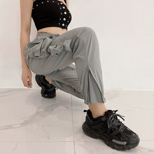 Load image into Gallery viewer, Grey Elastic Waist Casual Jogger Sweatpants