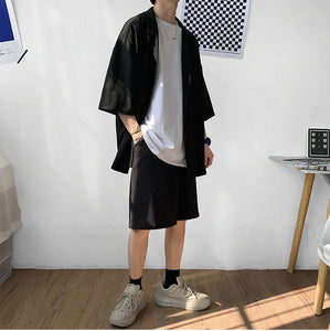 Two Piece Black Oversize Suit