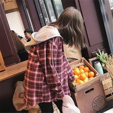 Load image into Gallery viewer, Casual Plaid Hooded Jacket