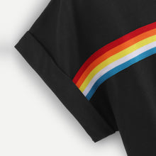 Load image into Gallery viewer, Rainbow Pattern Crop Top Shirt