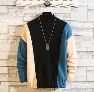 O-Neck Knitted Pullover Long Sleeve Sweater