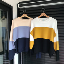 Load image into Gallery viewer, 2 Colors O Neck Knitted Sweater