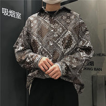 Load image into Gallery viewer, Paisley Pattern Loose Oversized Blouse Shirt
