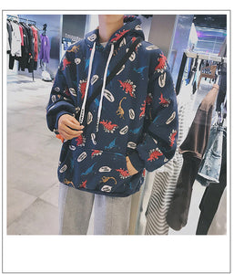 Cute Dinosaur Cartoon Hoodie