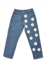 Load image into Gallery viewer, Daisy Flower Printed Denim Jeans Pants