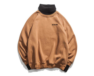New Style Turtleneck Sweater Men Simple Embroidered Pullovers