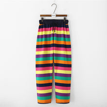 Load image into Gallery viewer, Colorful Striped Rainbow Pants