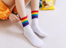 Load image into Gallery viewer, Rainbow Stripes Socks