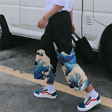Load image into Gallery viewer, Wave Kanagawa Printed Loose Pants