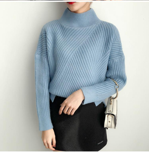 Loose Thick Turtleneck Knitted Sweater