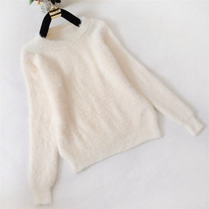 Three Quarter Sleeve Cashmere Knitted Sweater
