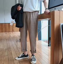 Load image into Gallery viewer, Men's Straight Harem Plaid Pants