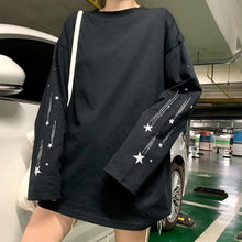 Load image into Gallery viewer, Stars Printed Casual Reflection Long Sleeve Shirt