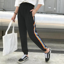 Load image into Gallery viewer, Rainbow Striped Casual Pants