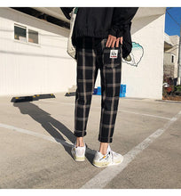 Load image into Gallery viewer, Casual Plaid Straight Ankle Length Pants
