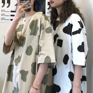 Cow Milk Pattern Casual Shirt