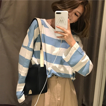 Load image into Gallery viewer, Oversize Striped Color Kawaii Shirt
