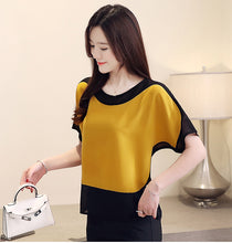 Load image into Gallery viewer, Solid O-Neck Chiffon Shirt