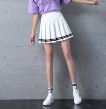 Load image into Gallery viewer, High Waist Pleated Preppy Style Skirt