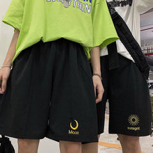 Load image into Gallery viewer, Moon Sunlight Embroidery Loose Shorts Pants