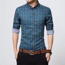 Load image into Gallery viewer, Cotton Shirt Plaid Long Sleeve