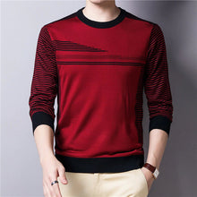 Load image into Gallery viewer, Casual Striped Cotton O-Neck Sweater