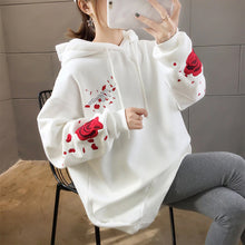 Load image into Gallery viewer, Rose Bird Embroidery Hoodie