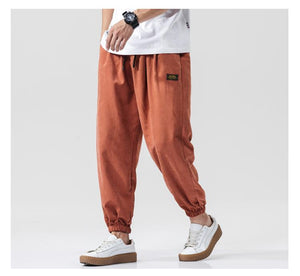 Cotton Ankle Length Loose Jogger Pants