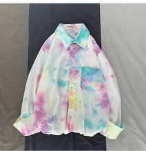 Load image into Gallery viewer, Tie Dye Printed Loose Long Sleeve Shirt