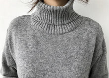 Load image into Gallery viewer, Warm Turtleneck Long Dress Knitted Sweater