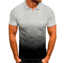 Load image into Gallery viewer, Contrast Color Short Sleeve Men's Polo Shirt