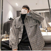 Load image into Gallery viewer, Thick Plaid Pattern Oversized Shirt