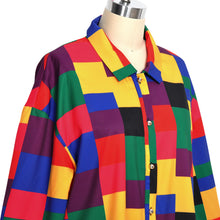 Load image into Gallery viewer, Retro Color Block Pattern Shirt