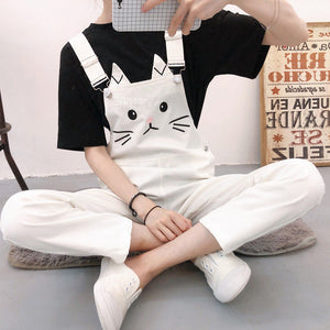 Cat Cartoon Printed Ankle Length Jumpsuit