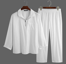 Load image into Gallery viewer, Long shirt zipper + men's trousers set