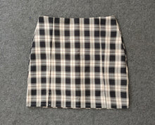 Load image into Gallery viewer, Mini Plaid Pencil Skirt