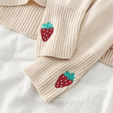 Load image into Gallery viewer, Strawberry Embroidery Turtleneck Knitted Sweater