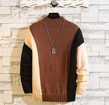 Load image into Gallery viewer, O-Neck Knitted Pullover Long Sleeve Sweater