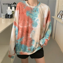 Load image into Gallery viewer, Tie Dye Printed Casual O-Neck Long Sleeve Shirt