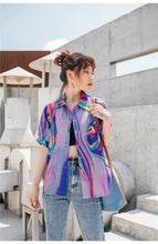 Load image into Gallery viewer, Geometric Multicolor Blouse Shirt
