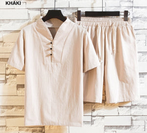 Boutique Cotton and High Linen Shirt + Shorts