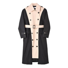 Load image into Gallery viewer, Double Color Trench Long Coat