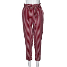 Load image into Gallery viewer, High Waist Striped Pants