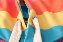 Load image into Gallery viewer, Rainbow Color Striped Printed Hoodie